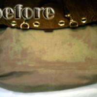 オストリッチ‐レザー(ostrich leather)バックの染み抜き