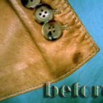 レザー(革)ジャケットの修復