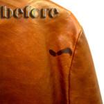 プラダ(PRADA) レザージャケットの修復