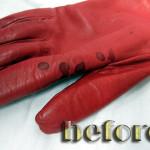 レザー(革)手袋の修復