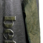 レザー・スエードコンビジャンパーの焼け変色の修復