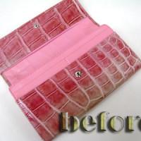 クロコ 財布 修復