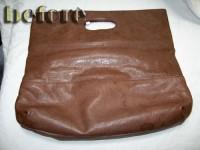 シミいっぱい革バッグ