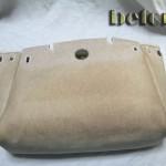 エルメス・エールバッグの樹脂加工の黄ばみ直し