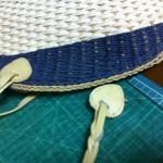 カゴバッグの持ち手修理
