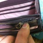 財布のラウンドファスナー交換修理