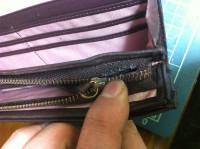 財布のラウンドファスナー交換修理1