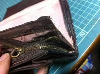 財布のラウンドファスナー交換修理5