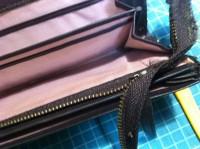 財布のラウンドファスナー交換修理6