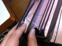 財布のラウンドファスナー交換修理9