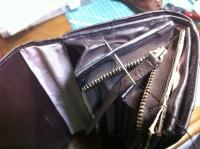 財布のラウンドファスナー交換修理10