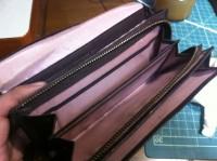 財布のラウンドファスナー交換修理13