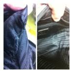 プラダ(PRADA)バッグの内袋ホツレ修理