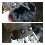 革コートの袖口修理