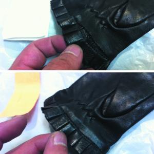 手袋のチギレ直し