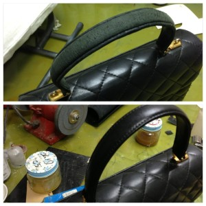 シャネル CHANEL マトラッセ チェーンバッグの持ち手作り変え修理