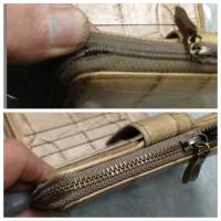 ラウンドファスナー財布のファスナー交換