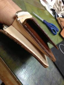 レザーウォレット(革財布)お直しリメイク11