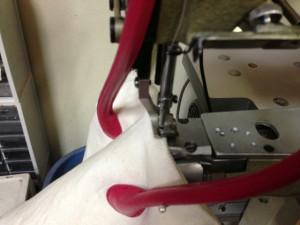 Courreges クレージュ キャンバスバッグ 底芯替えと色移り直し5