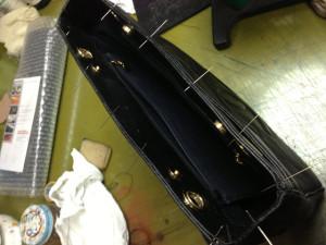 シャネルバッグ 内袋 修理12