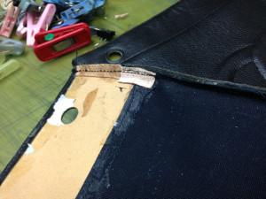 シャネルバッグ 内袋 修理8