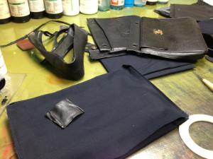シャネルバッグ 内袋 修理2