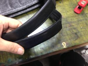 バッグ持ち手革巻き補強3