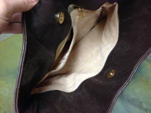 ボッテガバッグの裏地交換1