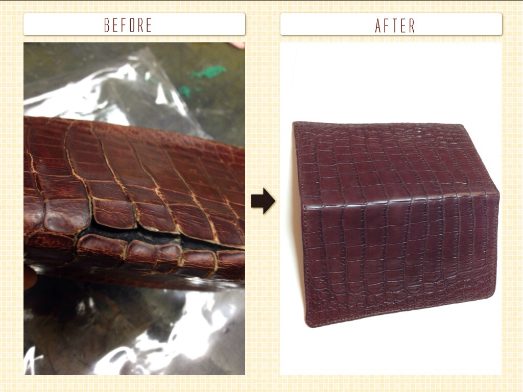 クロコダイル 財布 修理