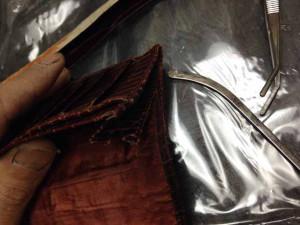 アルティオリ ARTIOLI クロコダイル 財布 修理6